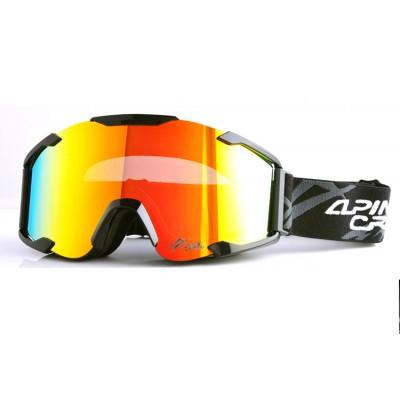 Очки для сноуборда ALPINE CROWN S-90 GOLD/BLACK золотая линза