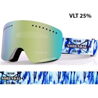 Очки сноубордические NORENDAL KZ LIGHT BLUE голубая линза