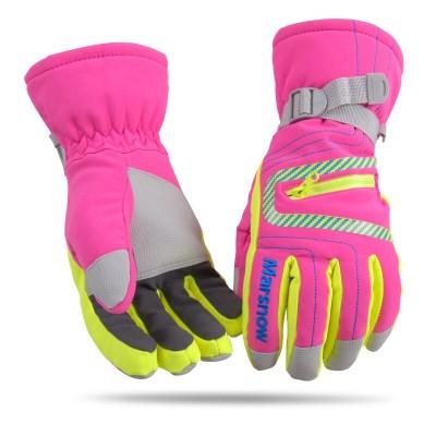 Перчатки горнолыжные MARSNOW розовые
